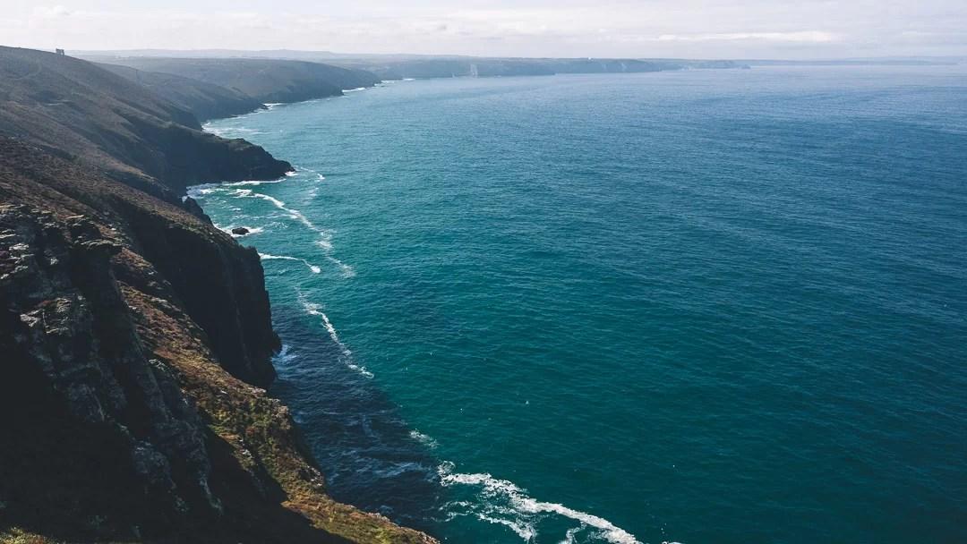 Cornovaliga - La costa a nord del faro di Godrevy