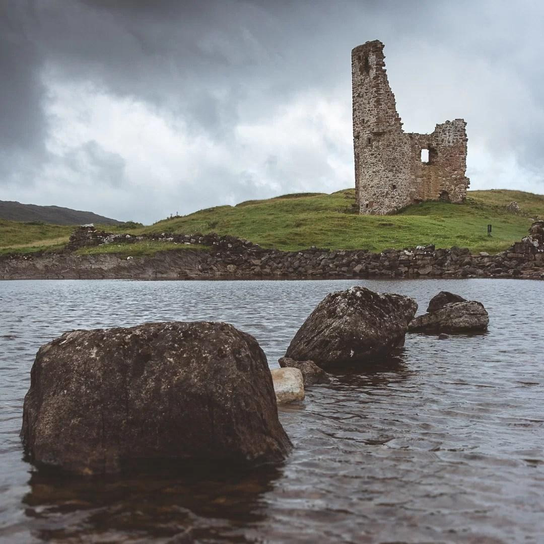 Scozia - Castello di Ardvreck nelle Highlands scozzesi