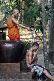 Cambogia, water blessing