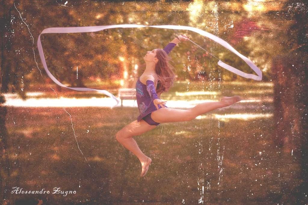foto vintage Ginnastica ritmica al Parco delle farfalle