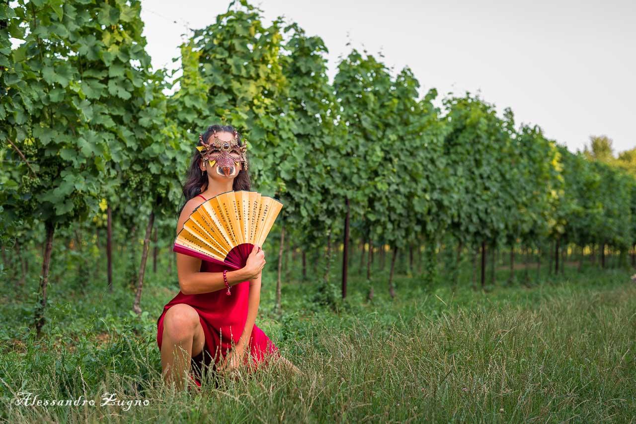 Foto danza nella Vigna dei Colli Euganei di Padova