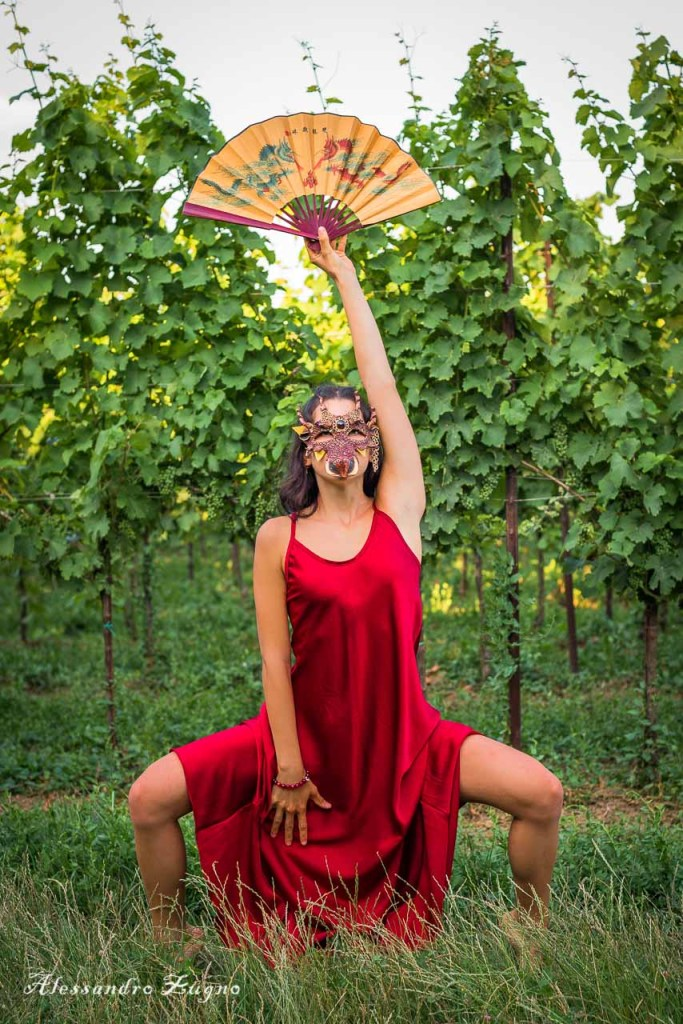 Foto di danza nella natura all'interno dei Colli Euganei