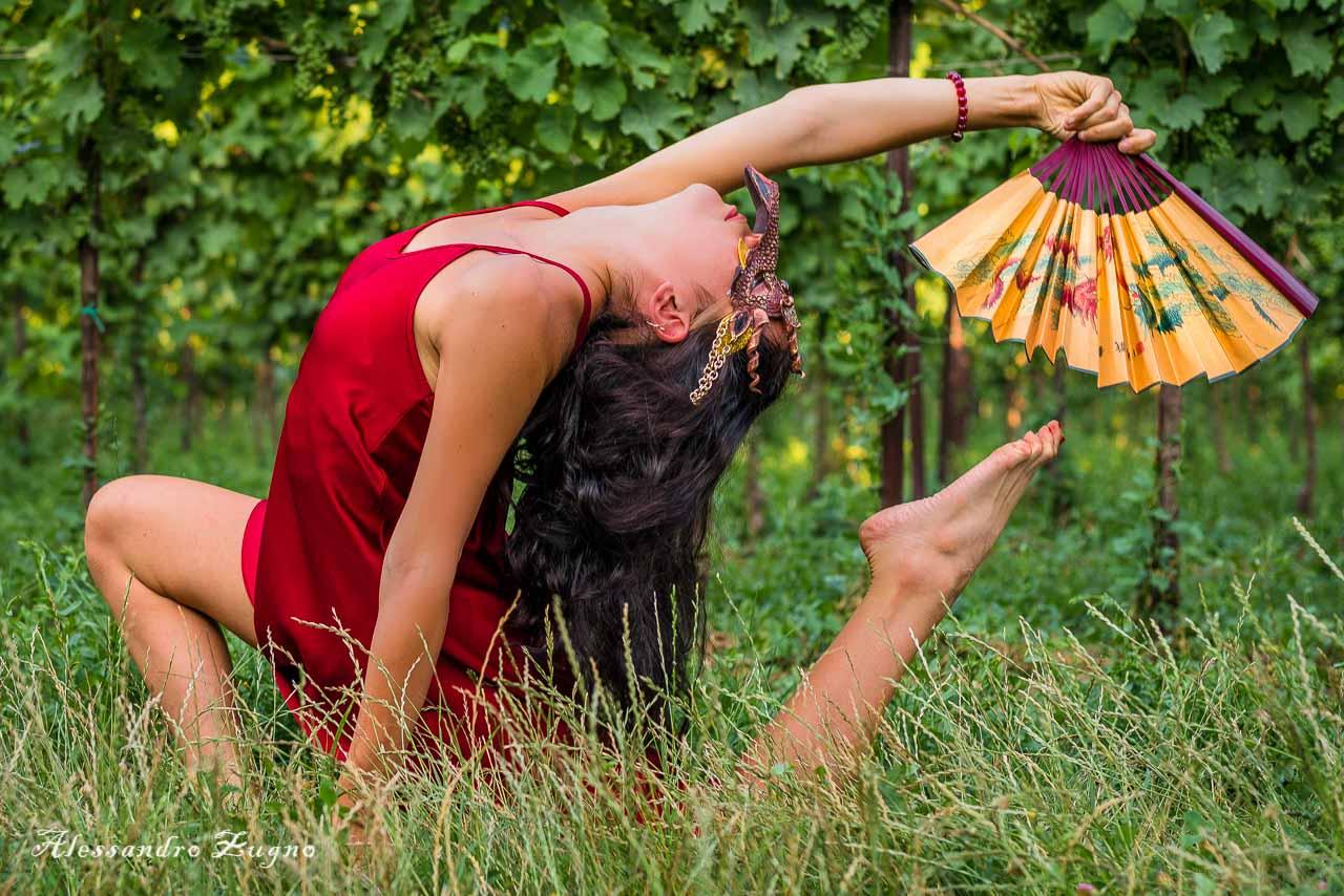 Foto danza nella natura
