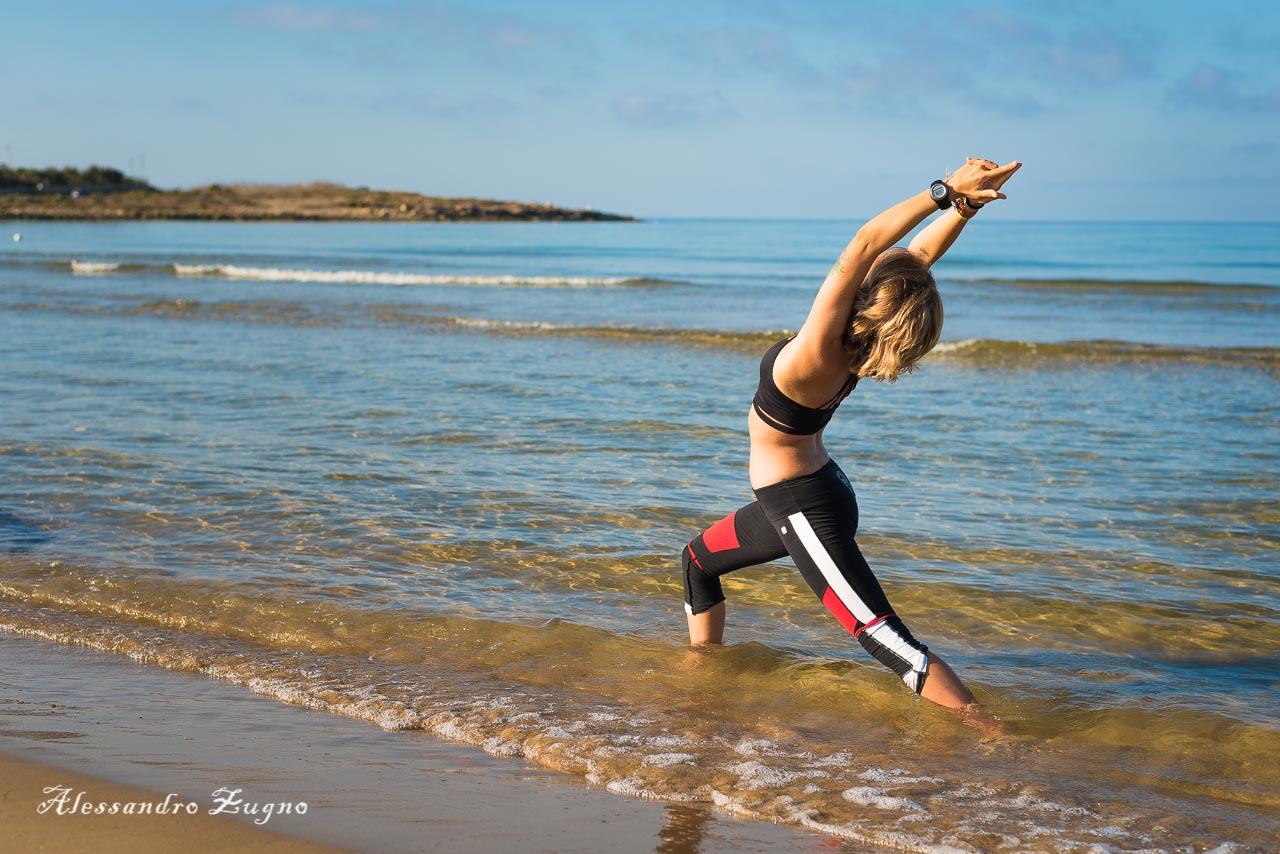 yoga nella spiaggia di Jesolo
