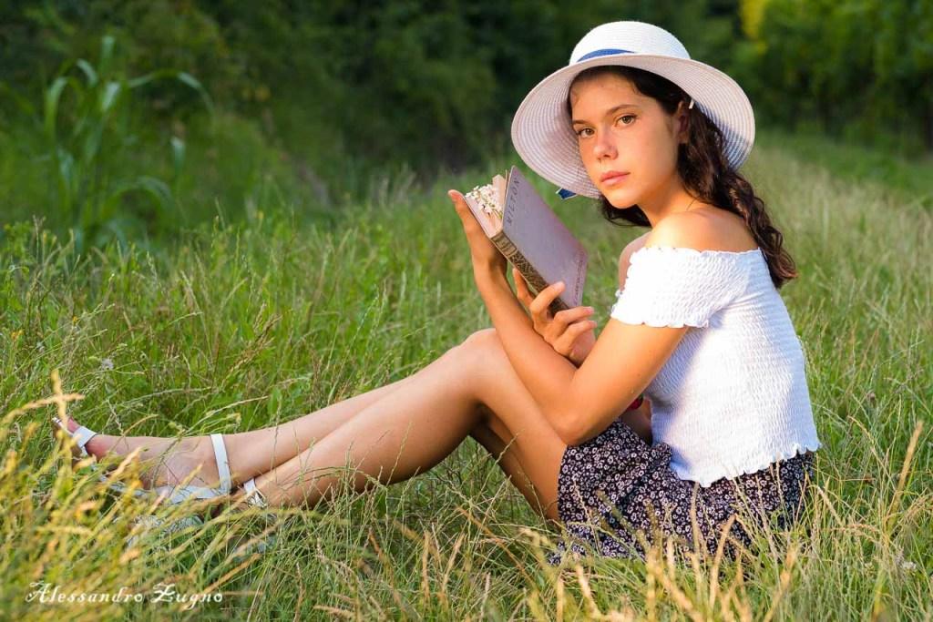 Servizio fotografico pubblicitario nei colli euganei con modella