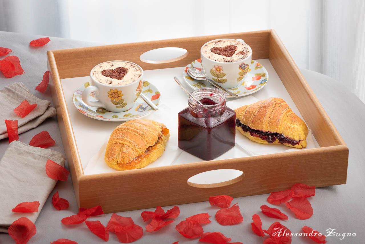 foto food colazione a letto romantica
