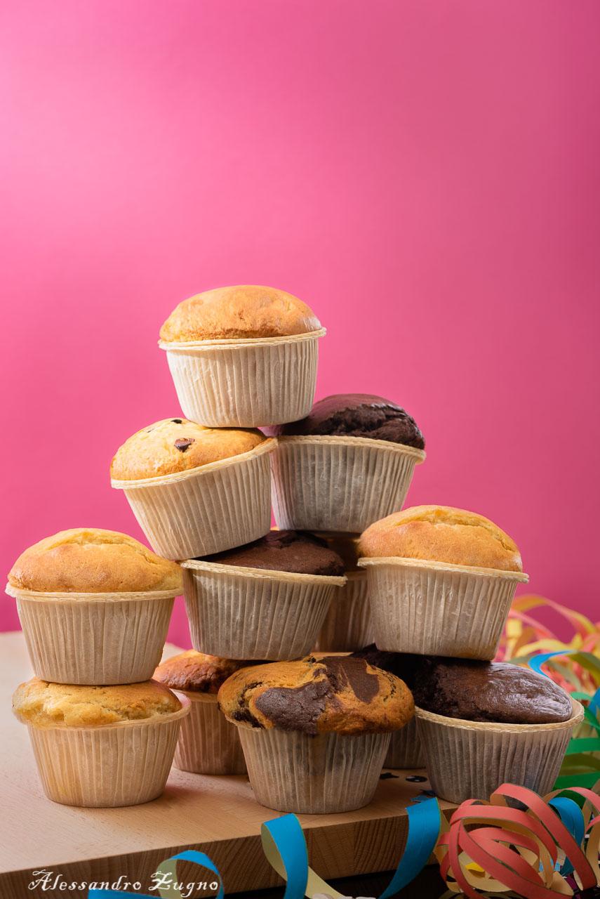 foto muffin sfondo rosa