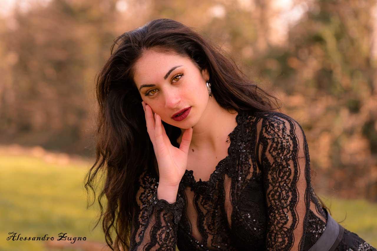 foto di ragazza al Parco degli Alpini a Padova