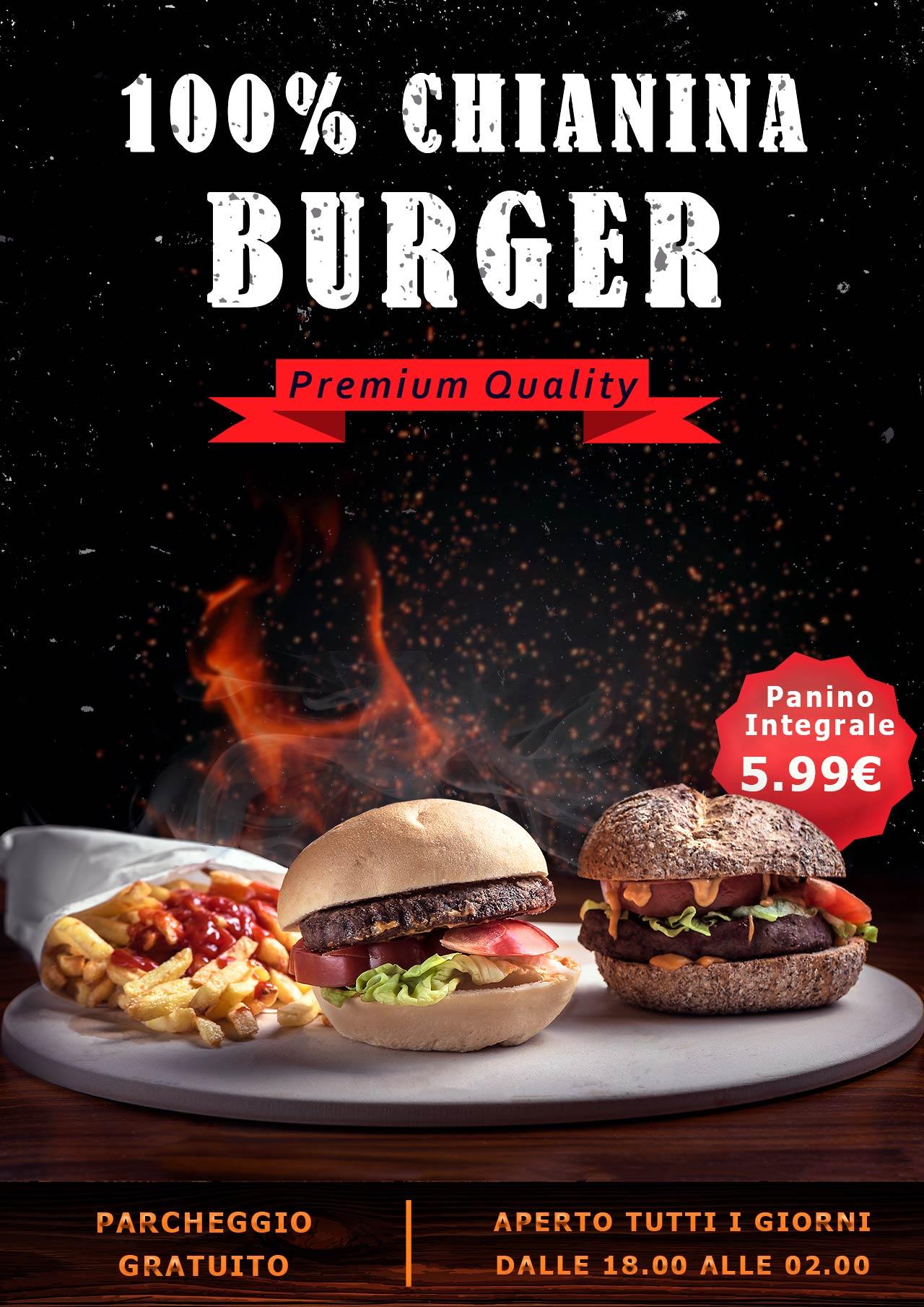volantino ristorante burger