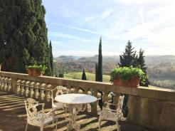 castle tuscany landscape