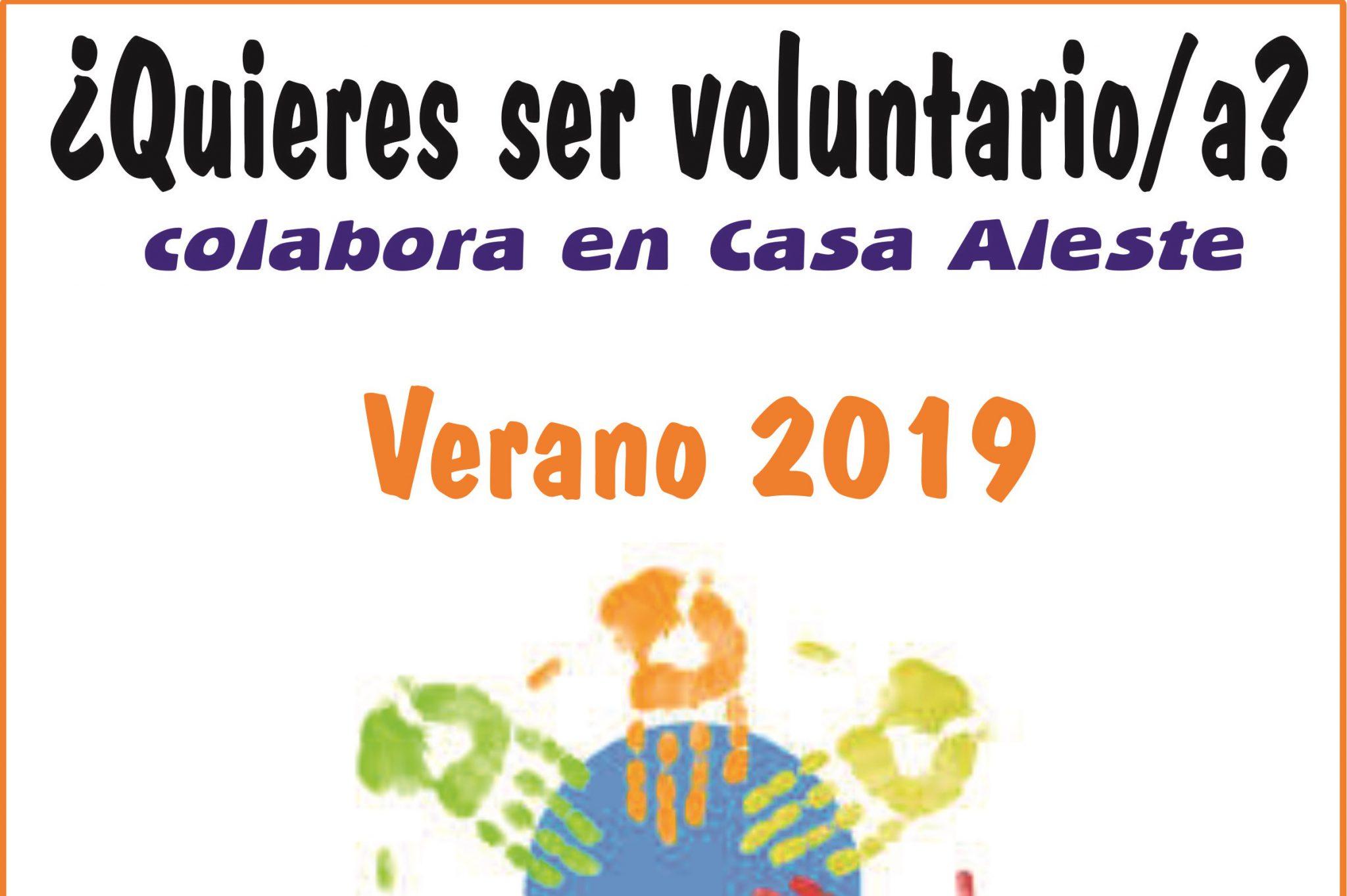 ¿Quieres Ser Voluntario/a? VERANO 2019