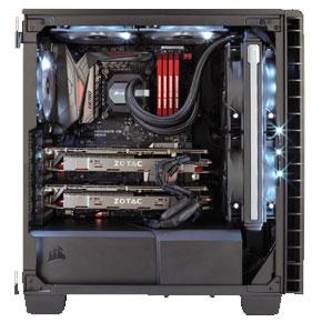 Corsair 400C PC Gehäuse mit installierten PC Komponenten