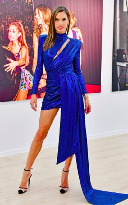 Alessandra Ambrosio with Alevì Milano Shoes