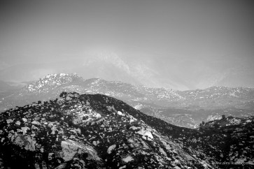 Hazy landscape on a back country afternoon, San Diego