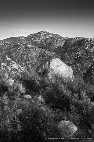 Boulder downs at Mount Gower Open Space Preserve, Ramona, California. January 2014.