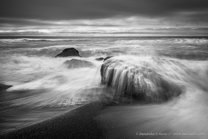 Waves crashing over rocks, Humboldt Lagoons State Park