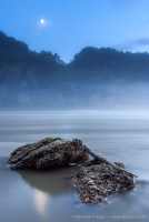 Fog at the Salzach River, Burghausen, Bavaria, Germany