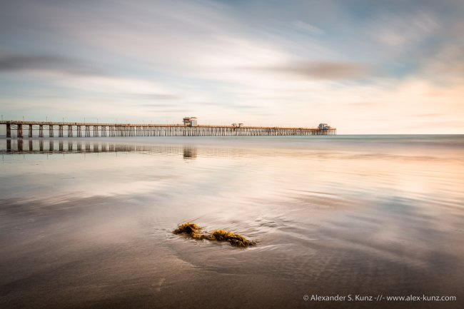 Long exposure of Oceanside Pier, San Diego County, California, United States