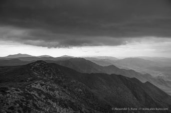 Summer Monsoon over the Pacific Crest in Southern California.