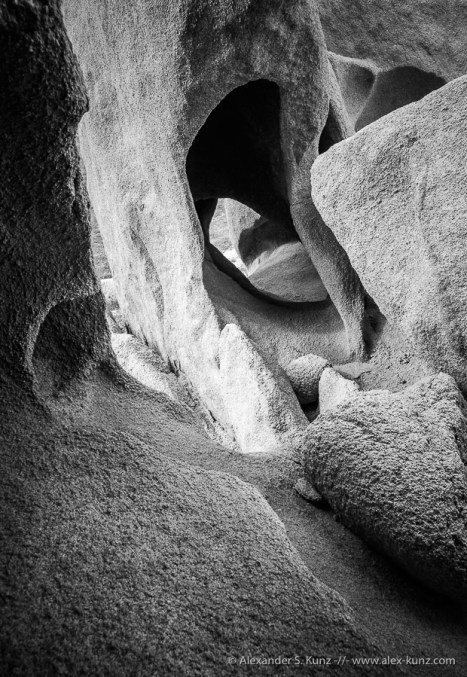 Wind Cavern in granite atValley of the Moon, Imperial County, CA.