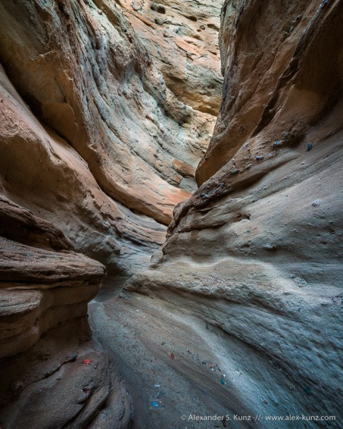 Slot canyon, Middle Fork Palm Wash/Calcite Mine, Anza Borrego Desert State Park, California, United States
