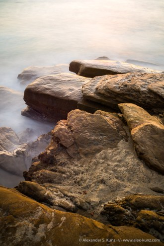 Windansea Beach Coastal Detail, La Jolla, CA. July 2014.