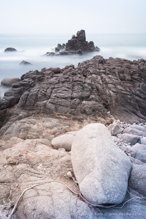 Long exposure photograph of the coast at 17-Mile Drive, Monterey, California