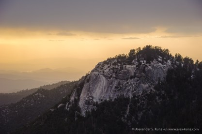 Suicide Rock Sunset -- Devil's Slide Trail, Idyllwild, California, USA