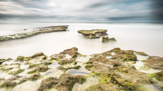 Long exposure photo of the tide pools at Tabletop Reef, Solana Beach, California, December 2016.