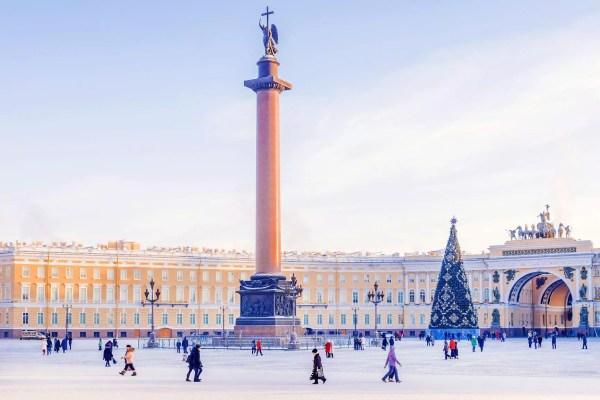 Silvester in St. Petersburg- Schlossplatz