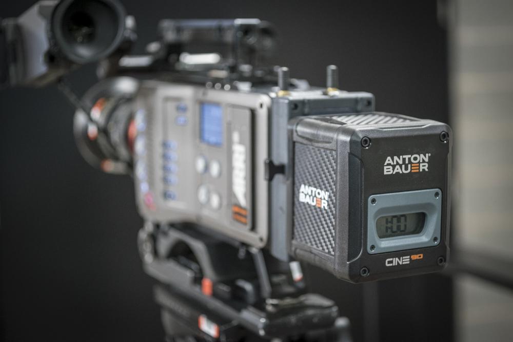 Anton Bauer Cine 90 being tested on the Arri Amira