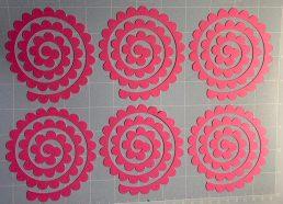 Cricut mat, 3D flowers