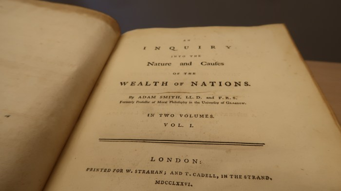 Title-page of the first edtion of The Wealth of Nations