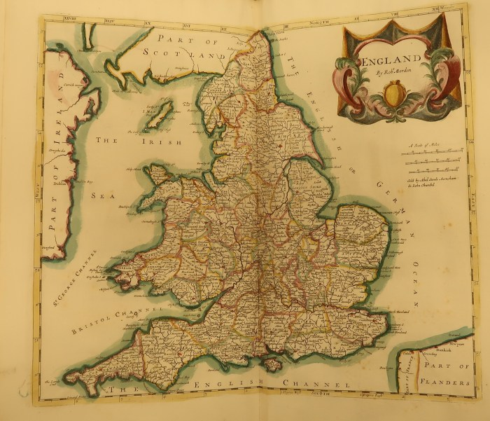 Map of England in Camden's Britannia