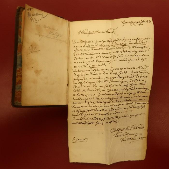 Letter by Baron Van Westreenen van Tiellandt