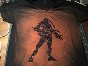 Etched Monstrosity completed shirt
