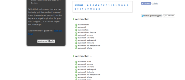 Screenshot Ubersuggest