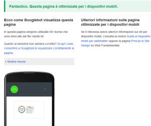Test di compatibilità mobile friendly