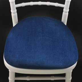 swing chair hire lounge with footstool coloured pads royal blue alexander equipment seat pad