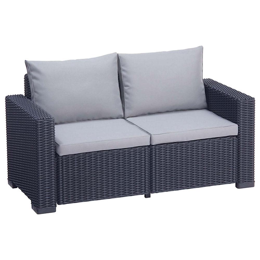 luxury rattan sofa garden furniture patio conservatory wicker outdoor 1 x 2 seater sofa