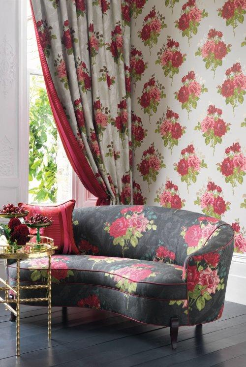sofas free delivery wayfair buy nina campbell paradiso rose alba fabric online ...