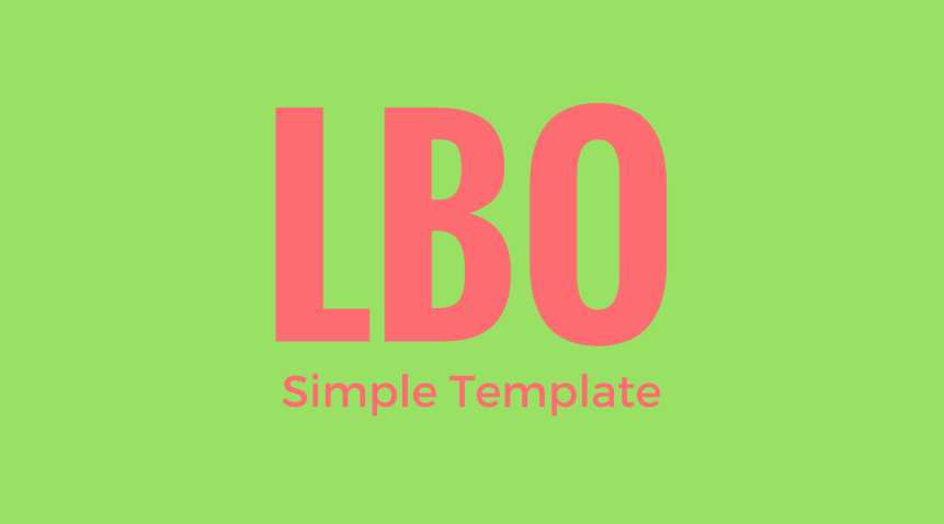 LBO-Template Invest Product M&A Investor models Free tools CFO
