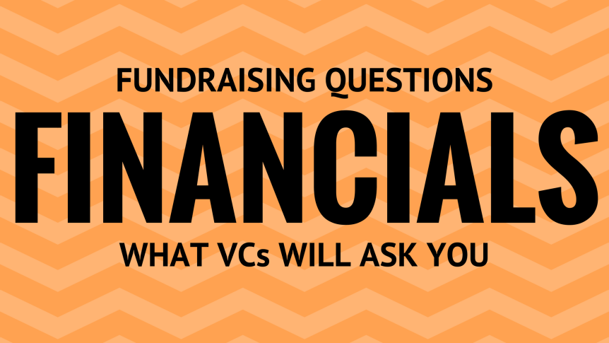 Financial questions for startup fundraising