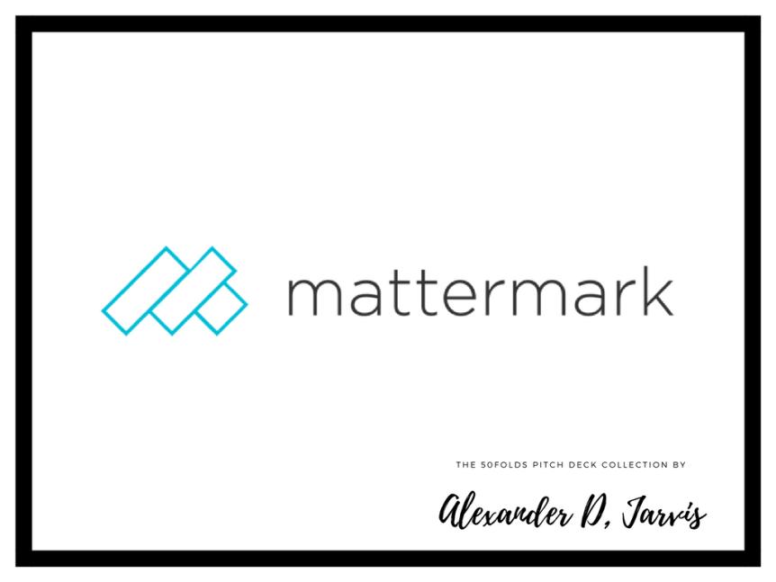 mattermark pitch deck