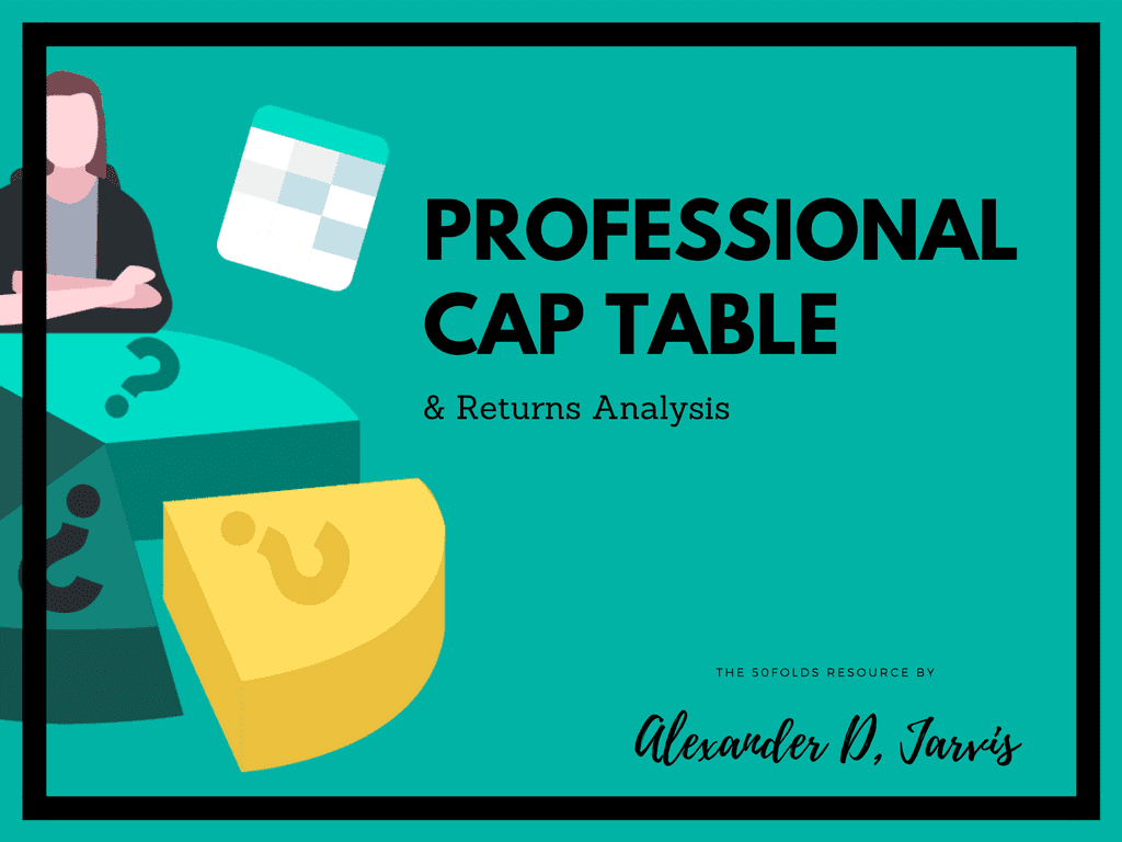 50Folds professional cap table template returns analysis