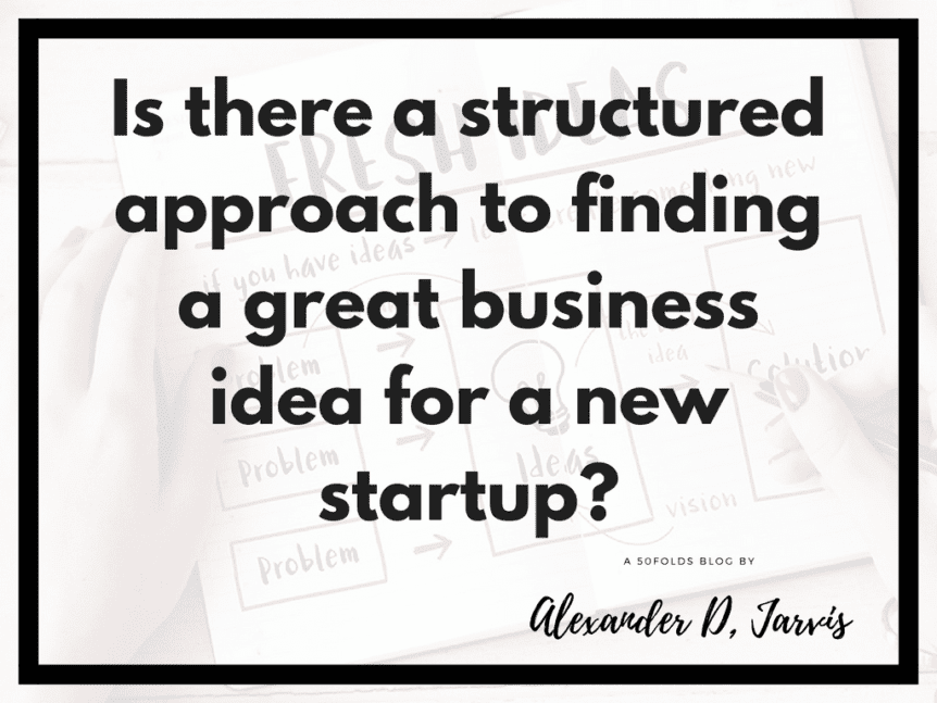 Is there a structured approach to finding a great business