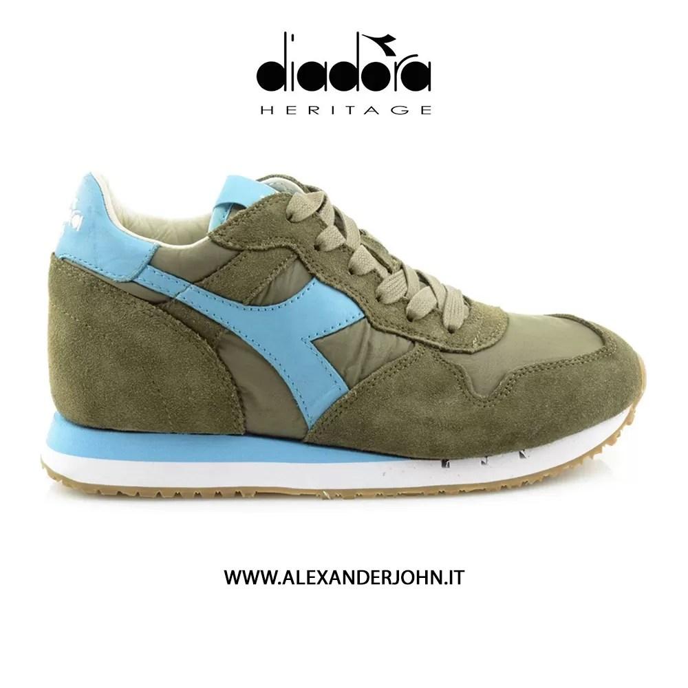 Search For Flights Diadora Heritage Scarpe Sneakers Uomo Donna Trident Evo Light Camoscio Verde Athletic Shoes