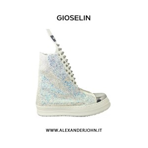 GIOSELIN DONNA |  ONE 2.0 STIVALETTO SNAEAKER MULTICOLOR GLITTER BIANCO