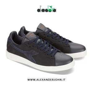 DIADORA UOMO SCARPE SNEAKERS GAME LOW MAJOLICA PREMIUM BLUE CORSAIR GAME H KIDSKIN CAMOSCIO SUEDE BLUE CORSAIR BROWN OUTLET LOW PRICE AUTUNNO 2019