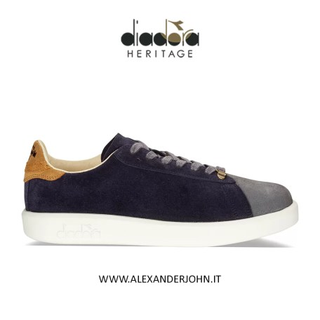 DIADORA HERITAGE UOMO SCARPE SNEAKERS GAME H KIDSKIN CAMOSCIO SUEDE BLUE CORSAIR BROWN OUTLET LOW PRICE AUTUNNO 2019